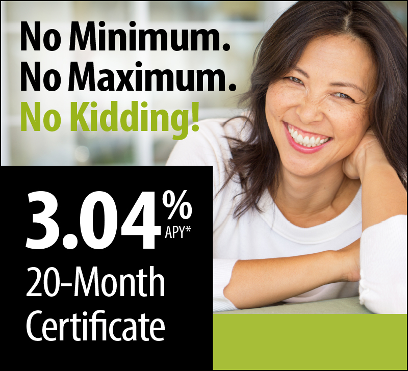 20-Month Certificate Special Offer